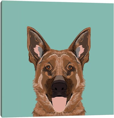 German Shepherd Canvas Art Print