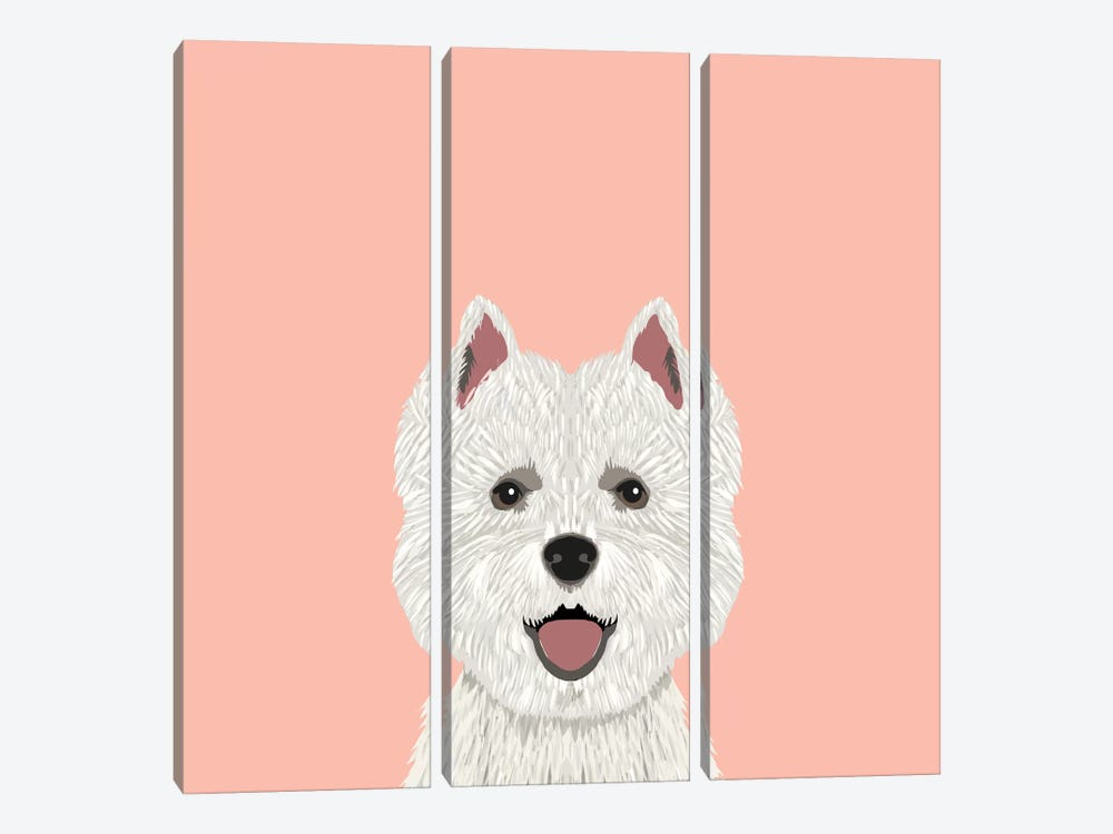 Highland Terrier by Pet Friendly 3-piece Canvas Artwork