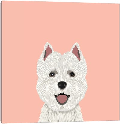 Highland Terrier Canvas Art Print