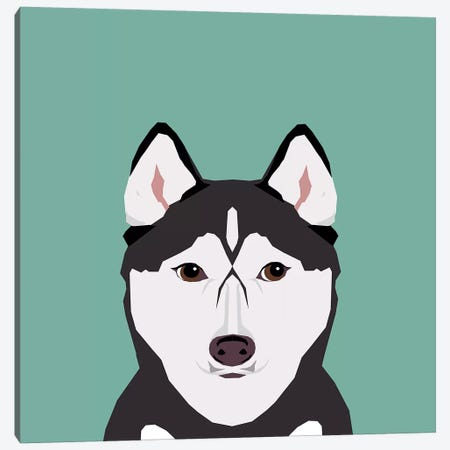 Husky Canvas Print #PET47} by Pet Friendly Canvas Art