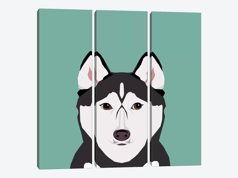 Husky by Pet Friendly 3-piece Art Print