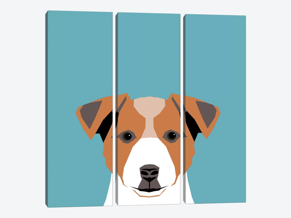 Jack Russell Terrier by Pet Friendly 3-piece Canvas Artwork