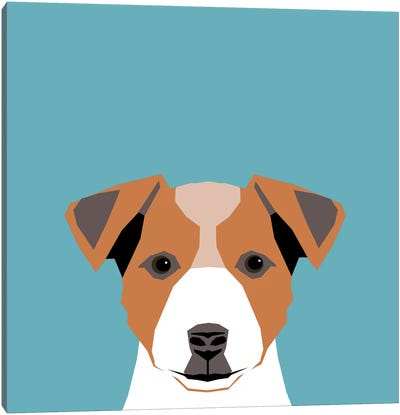 Jack Russell Terrier Canvas Art Print