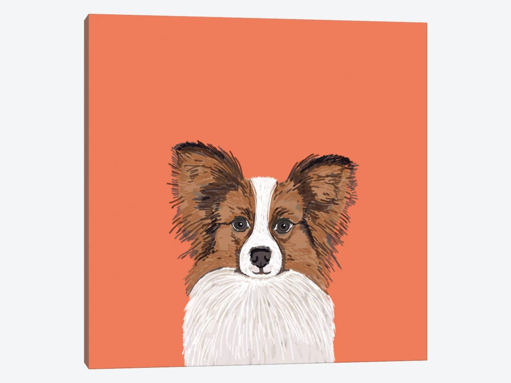 Papillon (Continental Toy Spaniel) by Pet Friendly 1-piece Canvas Art