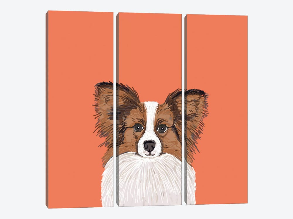 Papillon (Continental Toy Spaniel) 3-piece Canvas Artwork