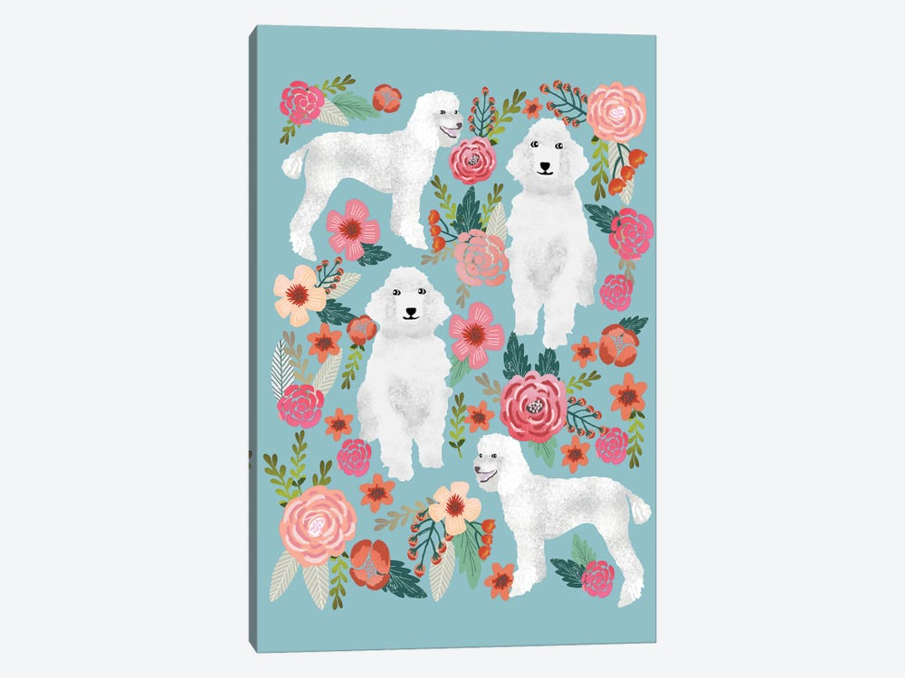 Poodle Floral Collage by Pet Friendly 1-piece Canvas Print