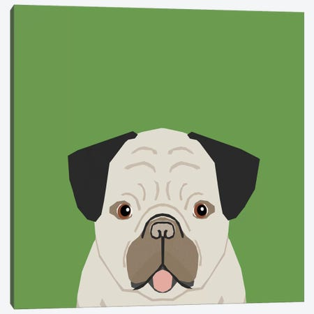 Pug Canvas Print #PET59} by Pet Friendly Canvas Artwork