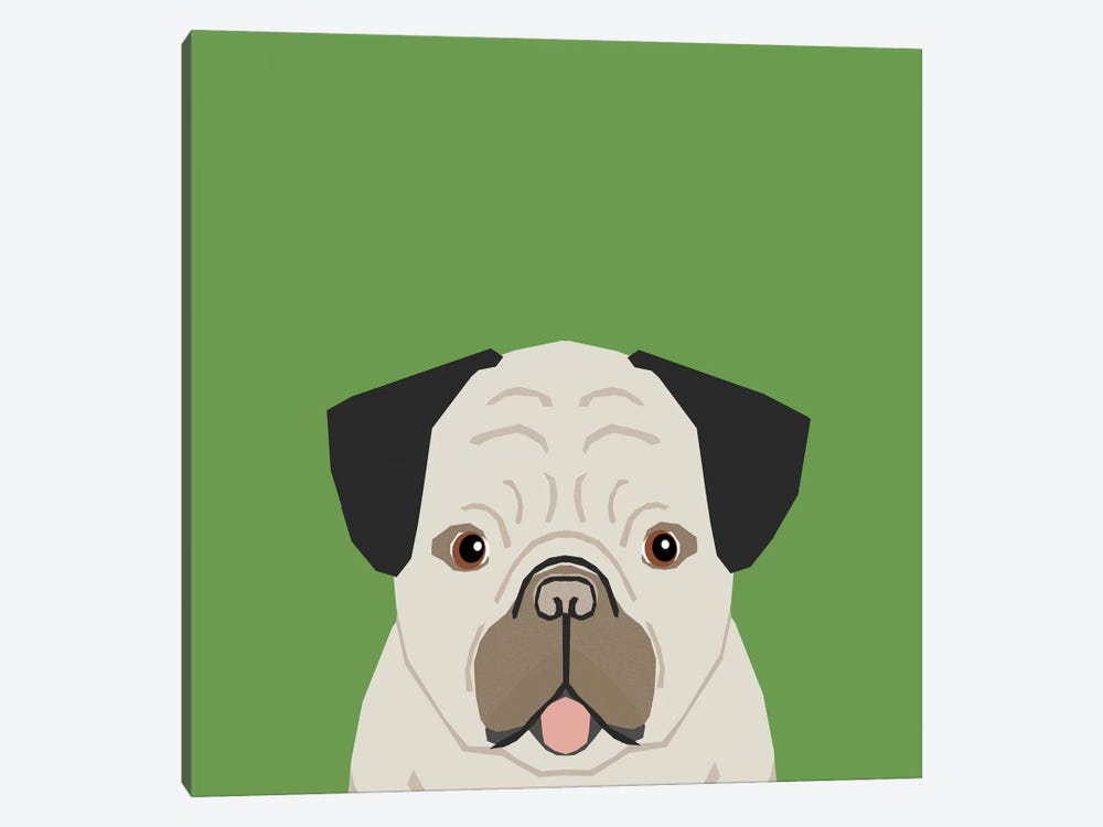 Pug by Pet Friendly 1-piece Canvas Artwork