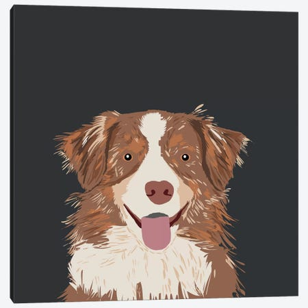Australian Shepherd I Canvas Print #PET5} by Pet Friendly Canvas Art Print