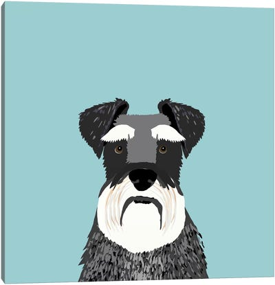 Schnauzer Canvas Art Print