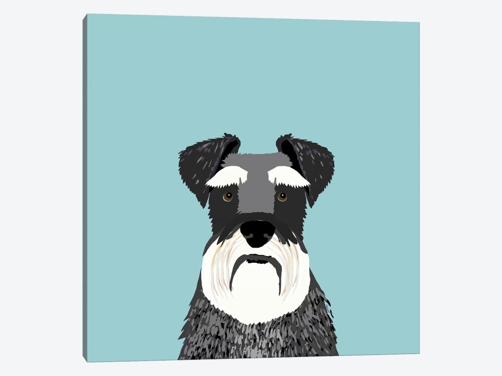 Schnauzer by Pet Friendly 1-piece Canvas Print
