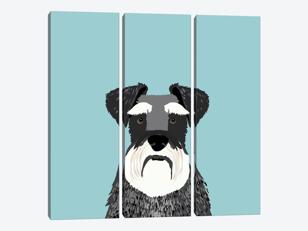 Schnauzer by Pet Friendly 3-piece Canvas Art Print