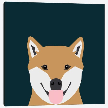 Shiba Inu Canvas Print #PET63} by Pet Friendly Art Print