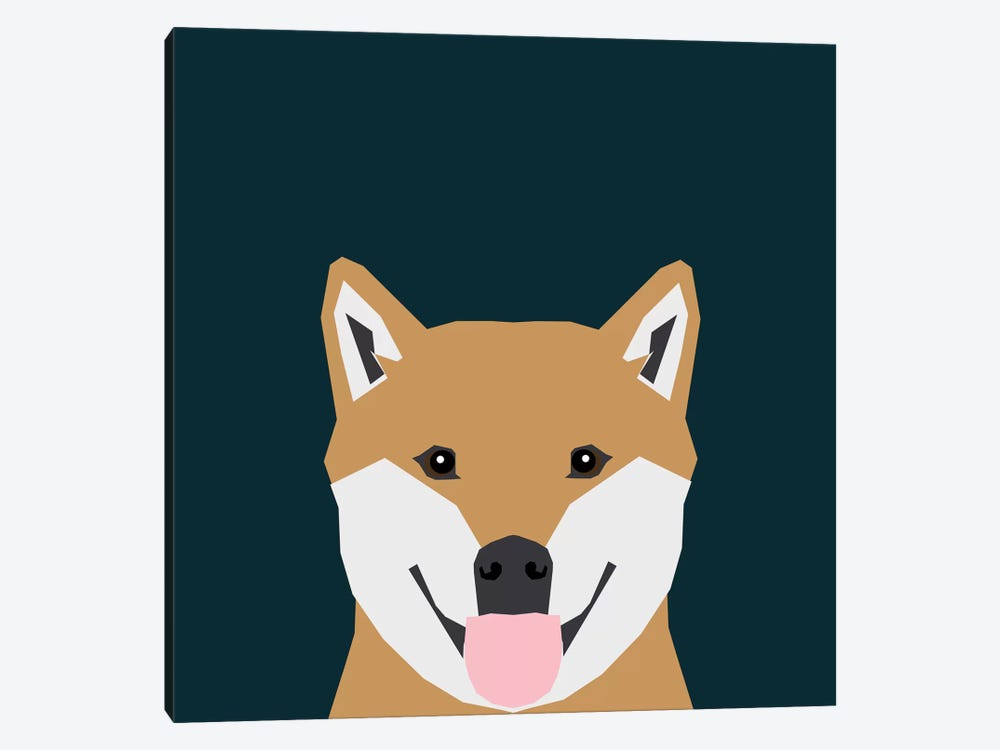 Shiba Inu by Pet Friendly 1-piece Canvas Print