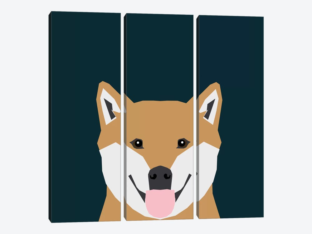 Shiba Inu by Pet Friendly 3-piece Canvas Print