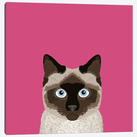 Siamese Canvas Print #PET67} by Pet Friendly Canvas Art