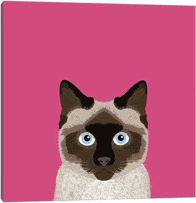Siamese Canvas Art Print