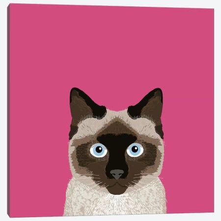 Siamese Canvas Print #PET67} by Pet Friendly Canvas Art