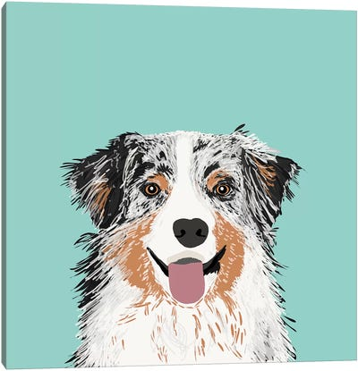 Australian Shepherd II Canvas Art Print