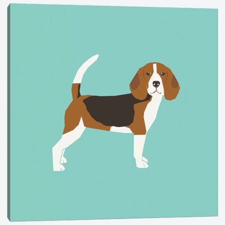 Beagle Canvas Print #PET75} by Pet Friendly Art Print