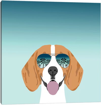 Beagle Summer Canvas Art Print