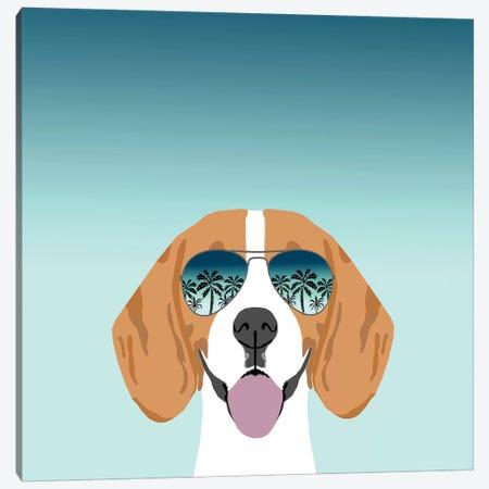 Beagle Summer Canvas Print #PET78} by Pet Friendly Canvas Wall Art