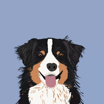 australian shepherd in the bathroom dog art giclee print gift