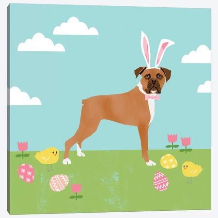Boxer Easter Canvas Print #PET85} by Pet Friendly Canvas Art