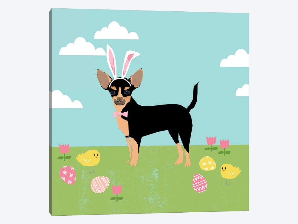 Chihuahua Black And Tan by Pet Friendly 1-piece Canvas Art