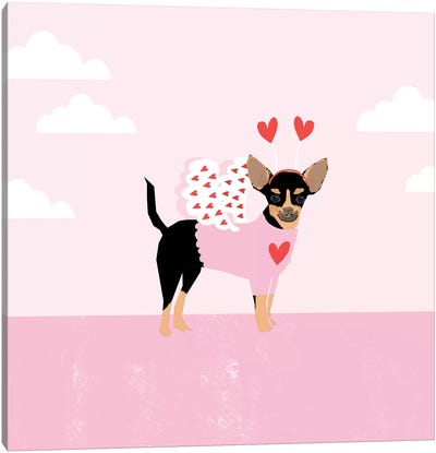 Chihuahua Love Bug Canvas Art Print