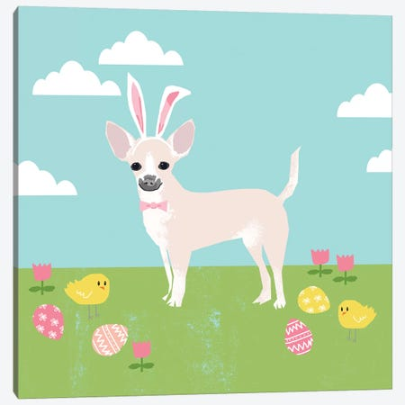 Chihuahua White Canvas Print #PET90} by Pet Friendly Canvas Artwork