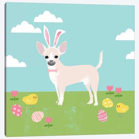 Chihuahua White Canvas Print #PET90} by Pet Friendly Canvas Artwork