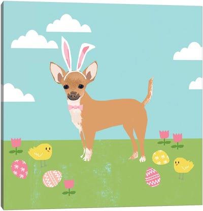 Chihuahua Easter Tan Canvas Art Print