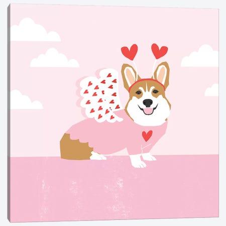 Corgi Love Bug Canvas Print #PET95} by Pet Friendly Canvas Print