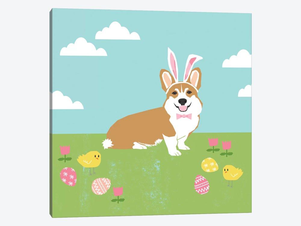 Corgi Tan Easter by Pet Friendly 1-piece Canvas Art