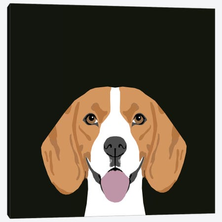 Beagle Canvas Print #PET9} by Pet Friendly Canvas Wall Art