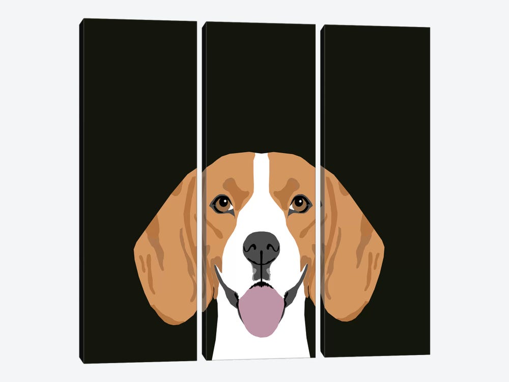 Beagle by Pet Friendly 3-piece Canvas Art