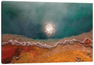 Boiling Hot Yellowstone Canvas Art Print