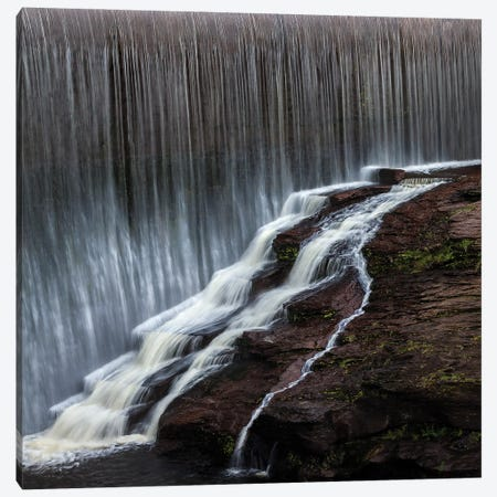Cambodian Waterfall Canvas Print #PEW11} by Peter Walton Art Print