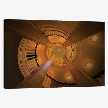 Disappearing Columns Canvas Print #PEW149} by Peter Walton Art Print