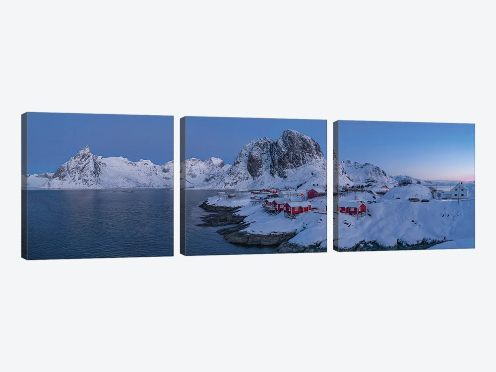 Hamnoy In Inter by Peter Walton 3-piece Canvas Print