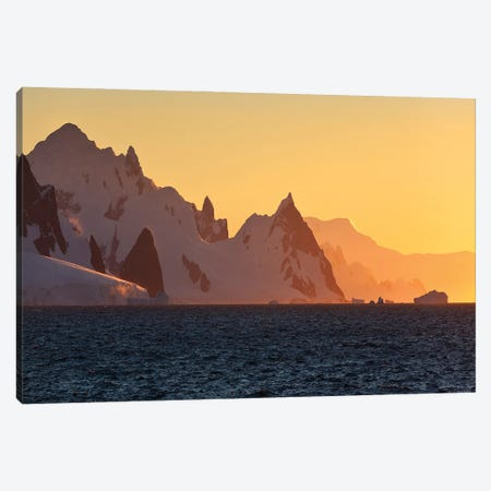 Dawn In Antarctica Canvas Print #PEW15} by Peter Walton Canvas Wall Art