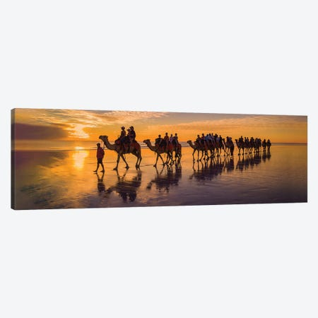 Broome Camel Ride Canvas Print #PEW168} by Peter Walton Canvas Art Print
