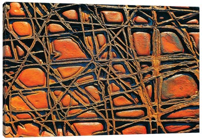 Criss Cross Rocks Canvas Art Print