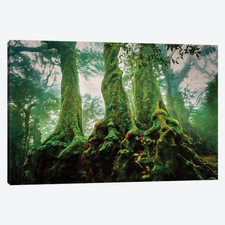 Medieval Trees Canvas Print #PEW186} by Peter Walton Canvas Wall Art