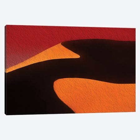 Dune 45 Textured Canvas Print #PEW19} by Peter Walton Art Print