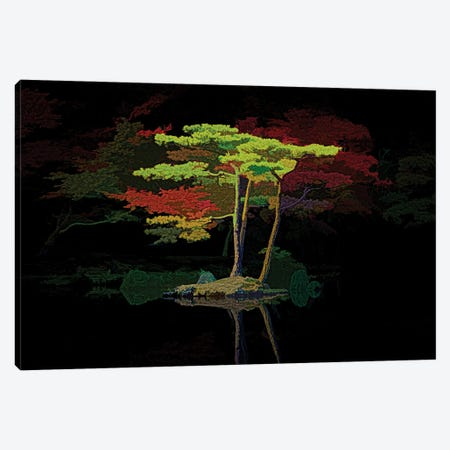 Mirror Pond Tapestry 3-Piece Canvas #PEW200} by Peter Walton Canvas Artwork