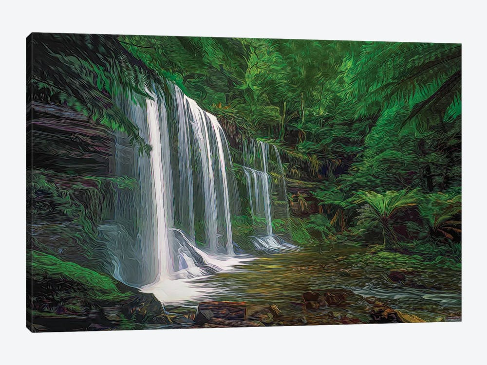 Russell Falls Tasmania by Peter Walton 1-piece Canvas Art