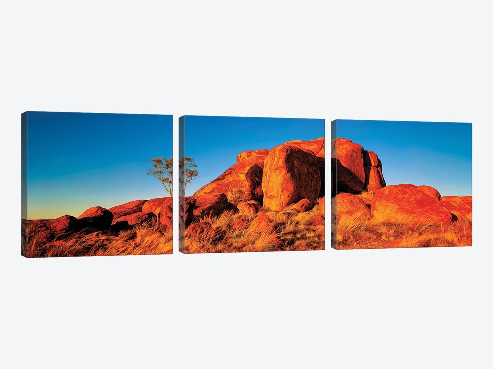 Giant Devils Marbles by Peter Walton 3-piece Canvas Artwork