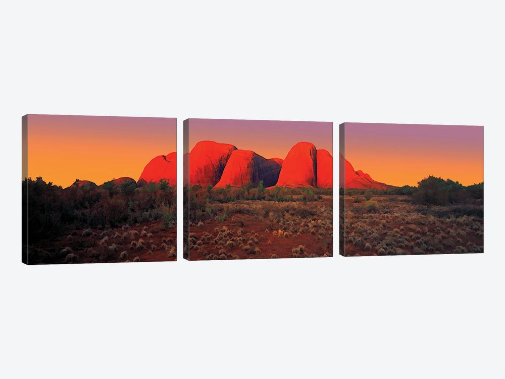 The Olgas 2 by Peter Walton 3-piece Canvas Wall Art
